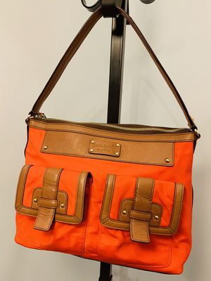 Kate Spade Manda Hanover Leather Bag, Brown and Orange for Sale in Franconia, VA