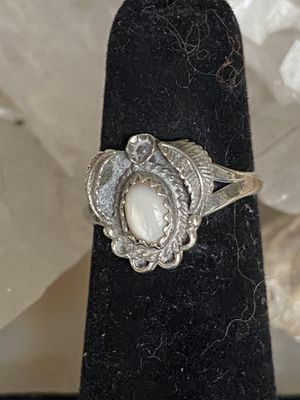 Petite Vintage Native American Moonstone Sterling Silver Ring. Size for Sale in Tampa, FL