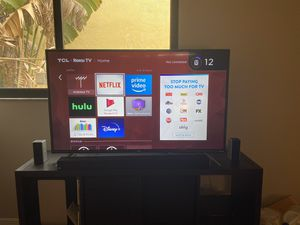 "50"" TCL Roku TV + Vizio 5.1 Soundbar & Subwoofer for Sale in Boca Raton, FL"