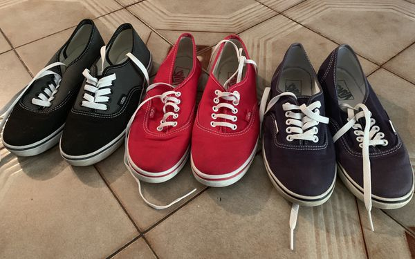 Practically new. VANS Size 7:30. $15. EACH