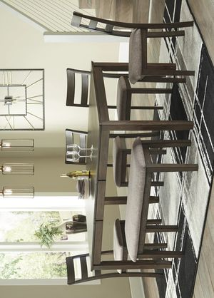 [SPECIAL] Drewing Brown Dining Set 6-PIECE (TABLE+4 CHAIRS+BENCH) for Sale in Houston, TX