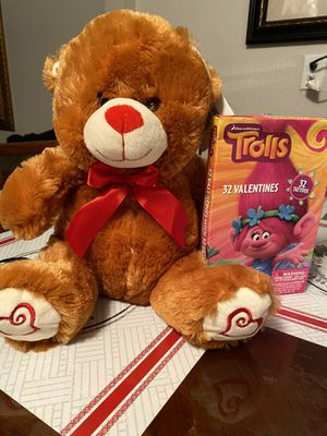 Valentines bear/troll cards if posted it's still available message if interested to meet Pleasanton and south cross for Sale in San Antonio, TX