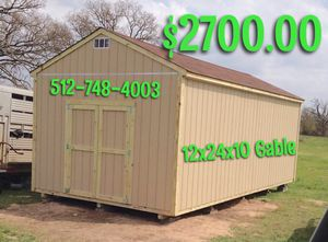 12x24x10 Gable Storage Shed - Built on Site for Sale in Austin, TX