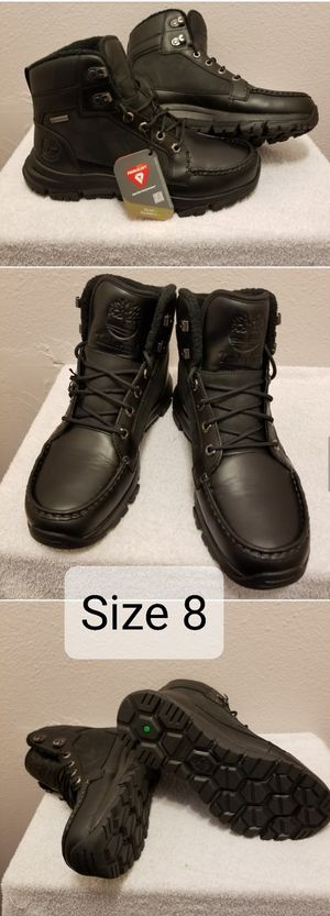Timberland Men's Garrison Field Waterproof Ins. TB0A1X6A015 Black Full Grain for Sale in Pomona, CA