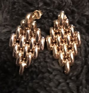 14k gold chain diamond shaped earrings for Sale in Silver Spring, MD