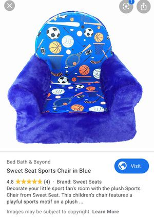 Kids sweet seat sports chair. for Sale in Bethesda, MD