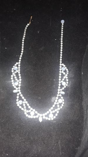 Synthetic Moonstone and rhinestone necklace $15 for Sale in North Highlands, CA