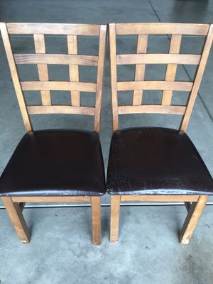Two solid wood chairs for Sale in Bakersfield, CA