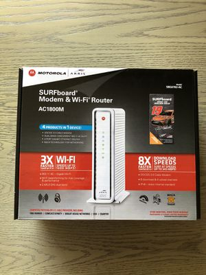 Arris surfboard DOCSIS 3.0 modem router for Sale in Los Angeles, CA