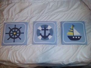 Nautical canvas decoration for Sale in Canyon Country, CA