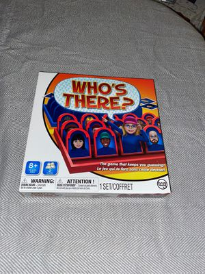 Who's There? Board Game for Sale in Orland Park, IL
