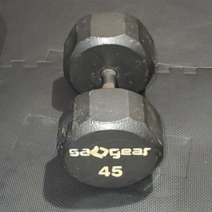 Single dumbbells, 45 pounds, pick up only. for Sale in Alhambra, CA