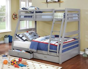 Grey Twin/ Full Bunk Bed for Sale in Fresno, CA