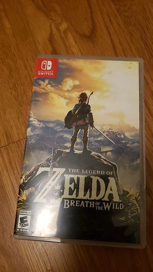 The legend of zelda: Breath of the wild Nintendo switch for Sale in Bellevue, WA