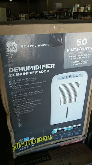 dehumidifier 50 pints general electric for Sale in Phoenix, AZ