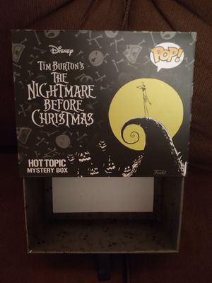 Funko Disney Nightmare Before Christmas Hot Topic Exclusive Mystery EMPTY Box for Sale in Sugarloaf, PA