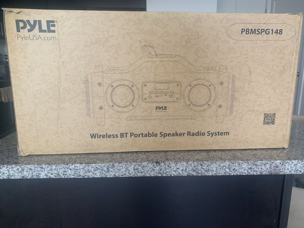 Brand new Pyle Wireless BT portable speaker radio system- 800W Rechargeable- model:PBMSPG148