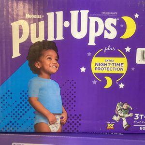 Box of 3T - 4T Huggies Pull-ups for Sale in Tempe, AZ