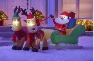 alcove 8' Inflatable Santa and Reindeer Sleigh for Sale in Spokane, WA
