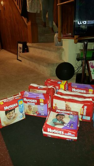 Huggies pampers $6 each for Sale in Trenton, NJ
