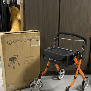 Walker Rollator —-Comodità Avanti Unique One or Two-Hand Operation// Lightweight Rolling //(Metallic orange)—BRAND NEW in BOX— for Sale in Peoria, AZ