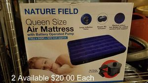 Brand New Queen Size Air Mattress With Electric Pump for Sale in Walkerton, IN