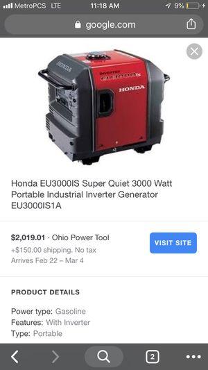 Honda Inverter Generator 3000 Watt for Sale in Columbus, OH