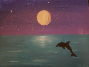 Dolphin dive painting for Sale in Minot, ND
