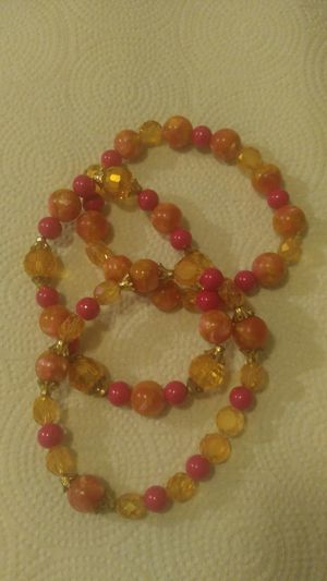 Pink and gold glass beads for Sale in Greensboro, NC