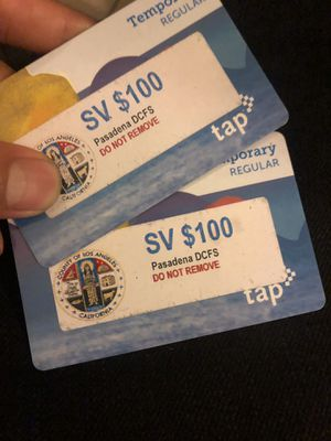 Taps cards for metro for Sale in Temple City, CA