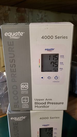 EQUATE BLOOD PRESSURE MONITOR for Sale in Ravenswood, WV
