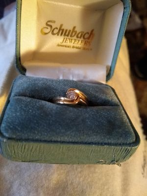 Gold diamond ring/ wedding band. for Sale in Idaho Falls, ID