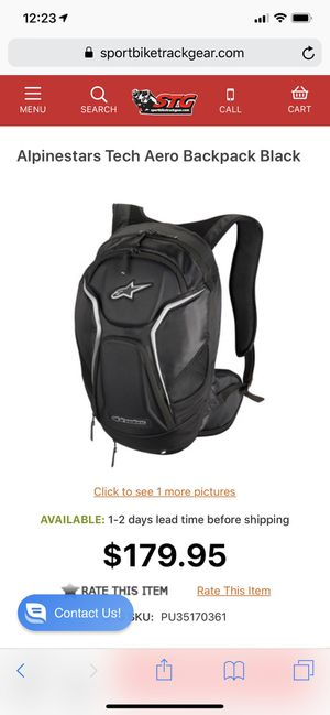 Alpine stars motorcycle backpack for Sale in AZ, US
