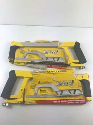 Stanley 12 in. High-Tension Hack Saw with 10 in. Mini Hack Saw (2) for Sale in Lake Los Angeles, CA