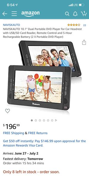 Portable car headrest dvd/usb/SIM card movie players for Sale in Los Angeles, CA