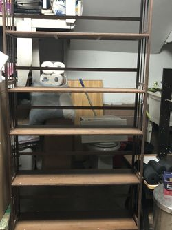 6 layers of bamboo flower shelves and bookshelves. High 6feet .Long 37inch for Sale in Monterey Park,  CA