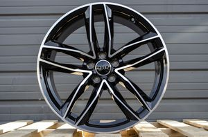 """19""""x8.5 5x112 Rims Black Machined Face New Set for Sale in Hayward, CA"""