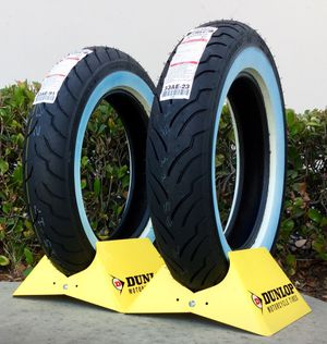 Dunlop American Elite White Wall Motorcycle Tire - In stock at 8 Ball Motorcycle Tires - Installed while you wait! for Sale in San Diego, CA