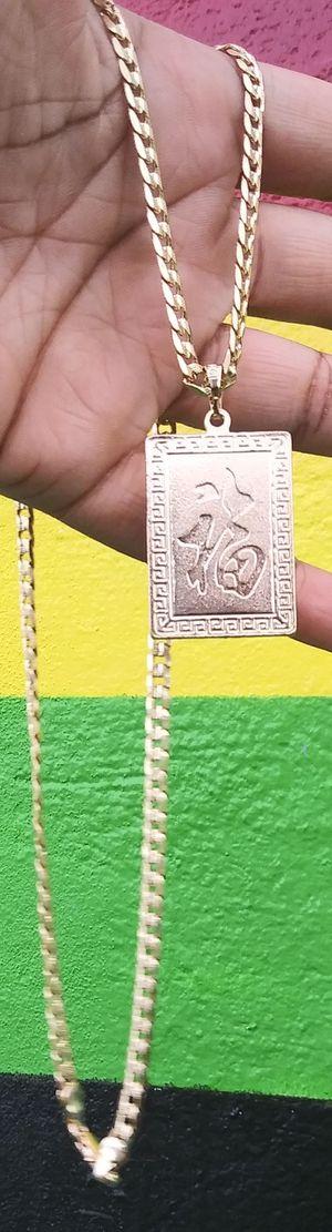 🚚💨I deliver🚀I Ship...😍😍14kt 💎Gold filled 💦 Necklace and charm 🌟🌟🌟🌟🌟 for Sale in Fort Lauderdale, FL