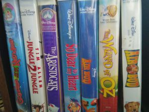 Variety of genres of vintage VHS tapes from different studios. Make an offer, example, dell for One Dollar but shipping cost $5.00. for Sale in Charleston, WV