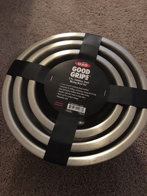 Oxo stainless steel bowl set for Sale in Alexandria, VA