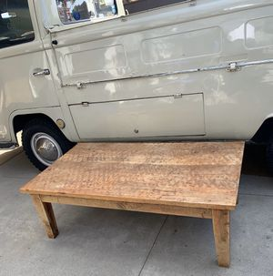 Heavy solid wood coffee table for Sale in Long Beach, CA