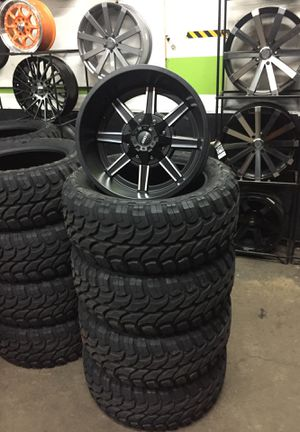 20x12 INCH WHEELS AND MT TIRES!!!! WE FINANCE $0 DOWN for Sale in Gresham, OR