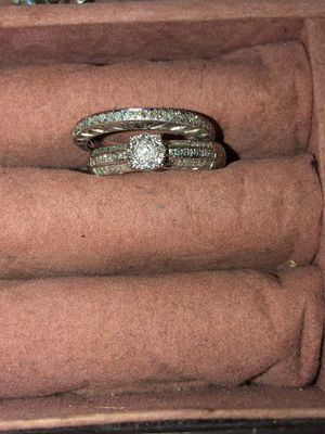 14k white gold wedding ring and wedding band for Sale in El Paso, TX