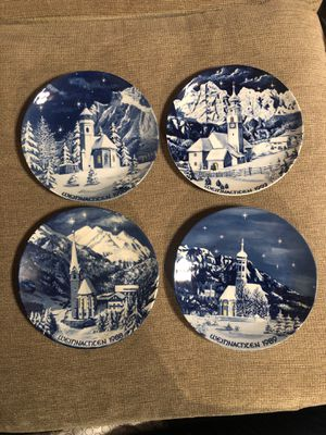 "4 ""Bavaria"" Christmas Plates $25 or $7 each for Sale in Torrance, CA"