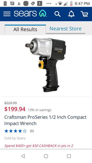 CRAFTSMAN COMPACT IMPACT wrench for Sale in Fresno, CA