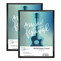 18x24 Rounded Poster & Picture Frame, Black, Set of 2 for Sale in Houston,  TX