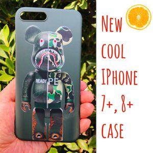 New cool iphone 7+ or iphone 8+ PLUS case rubber bape aape shark camo hypebeast hype swag men's for Sale in San Bernardino, CA