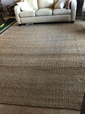 9x12 ft Pottery Barn jute rug. No stains. No pets. Interesting color and knot variations. Doesn't shed. for Sale in St. Petersburg, FL