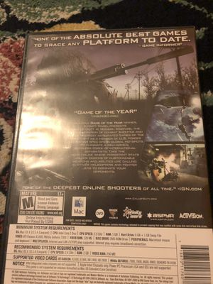 Call duty 4 Modern warfare for Sale for sale  King City, OR